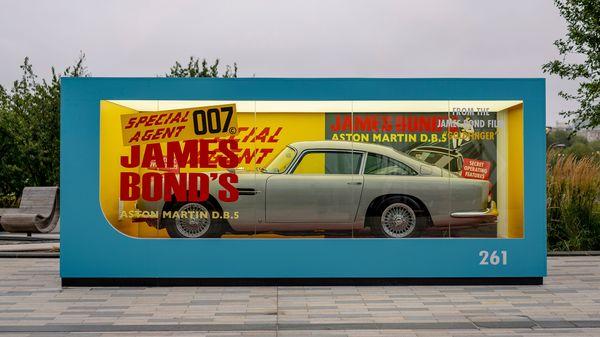 Life-size replica of Aston Martin Corgi DB5