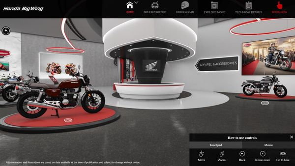 The platform currently features Honda H'ness CB350 in all its avatars but will soon showcase the entire range of the company's premium models.