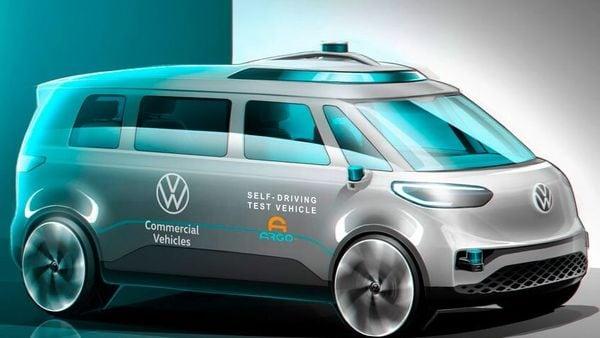 Volkswagen ID.Buzz autonomous electric vehicle. (Volkswagen)
