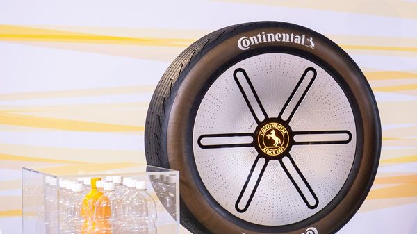 Continental has used polyester from recycled PET bottles in the casing of a tyre for the first time ever.