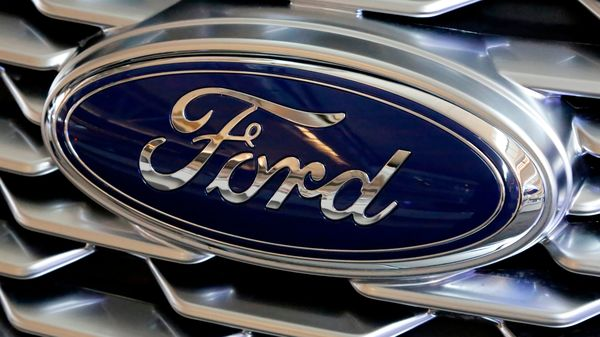 Representational file photo of Ford logo placed over a truck's front grille. (AP)