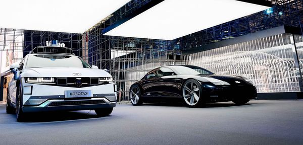 Hyundai electric vehicles on display at IAA Mobility 2021.