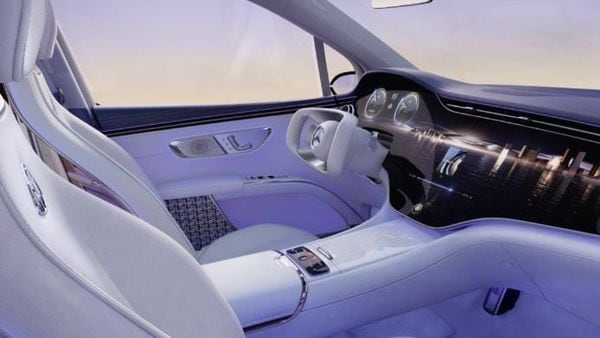 The all-new Mercedes-Maybach EQS gets an MBUX Hyperscreen with Maybach-specific display styles and content. The company says the EV will have software that will adapt completely according to its user.