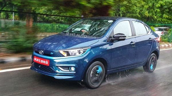 Tata Tigor EV goes up against sibling Nexon EV in the Indian electric vehicle market. Looking at creating inroads in the private PV EV space, can this battery-powered car change perceptions? (HT Auto/Sabyasachi Dasgupta)