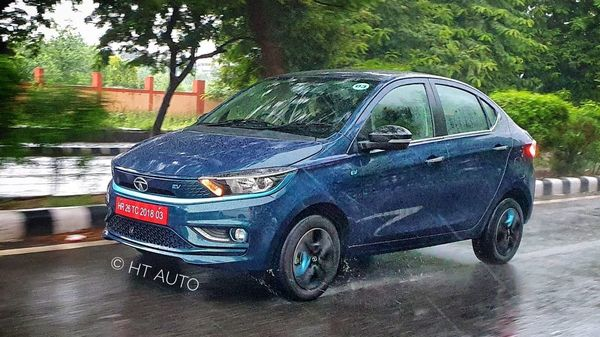 Tata Motors has officially launched the 2021 Tata Tigor EV and has pegged it as the most-affordable electric vehicle for private buyers in the country. The electric vehicle will offer Ziptron technology. (HT Auto/Sabyasachi Dasgupta)