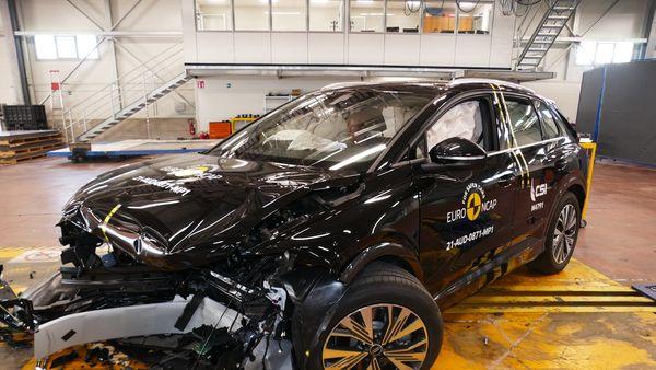 Audi Q4 e-tron at Euro NCAP crash test