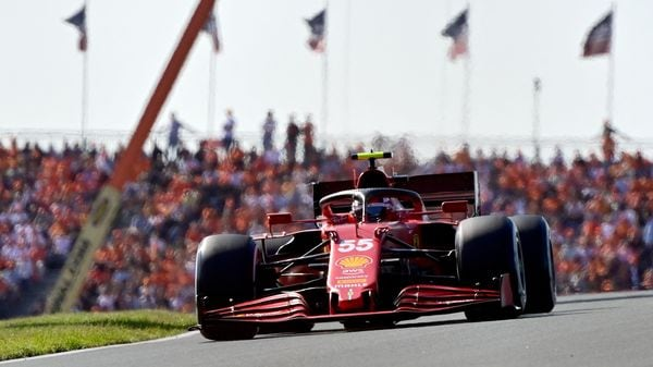 File photo: Carlos Sainz Jr races his Ferrari at the Zandvoort circuit during the Dutch Formula One Grand Prix. (AFP)