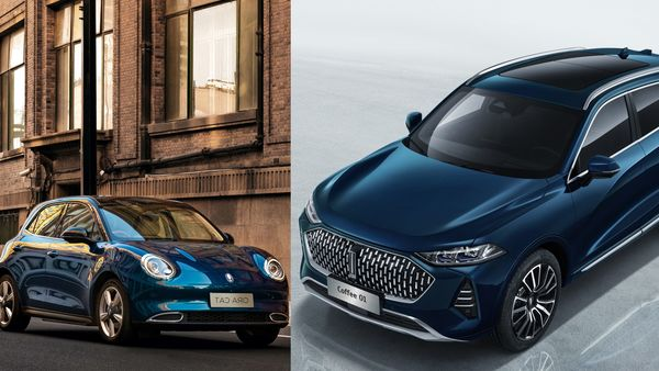 Great Wall Motor's Ora Cat (L) and Wey Coffee 01 (R) electric vehicles (Great Wall Motors)
