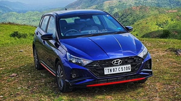 The i20 N Line gets a sporty exterior styling element. It sports a new front bumper that has been inspired by the chequered flag in motorsports, and is flanked by LED DRLs and LED projector head light units.. The N Line badging is featured all around this car.