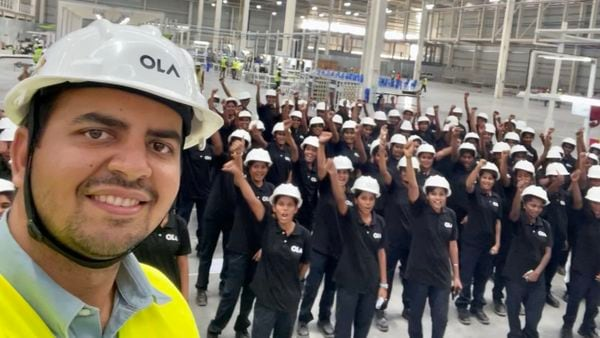 This image was shared by Ola Electric CEO Bhavish Aggarwal.
