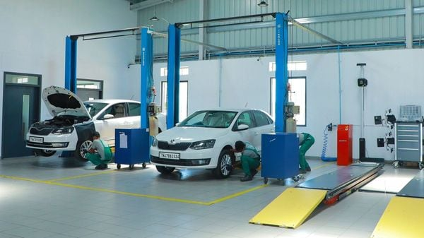 A look at a Skoda compact workshop.