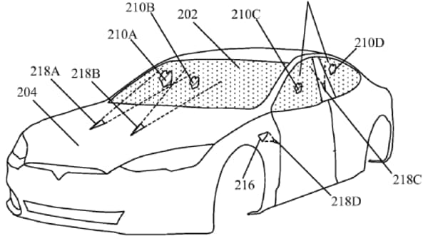 Future Tesla cars might come minus any conventional windshield wipers. (Image: Electrek)