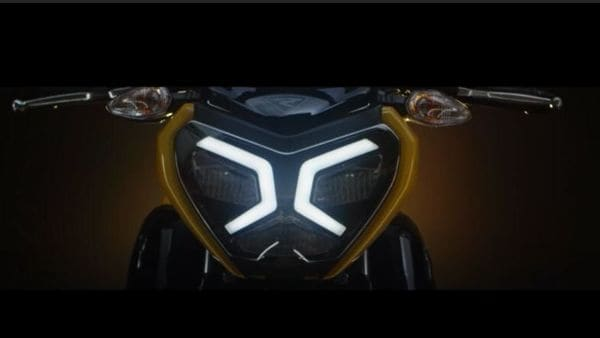 The teaser image (above) shows LED strip light from the upcoming TVS bike.