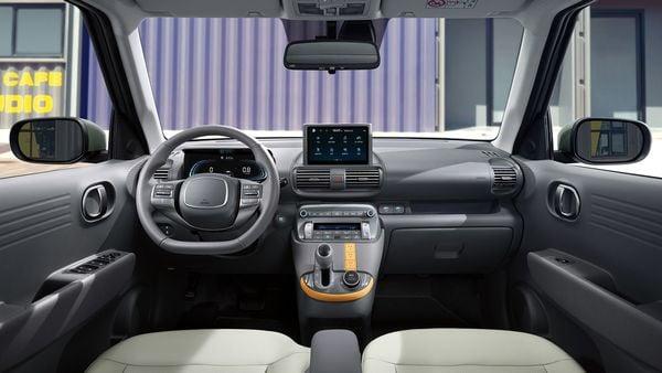 Interior looks of the upcoming Hyundai Casper micro SUV.