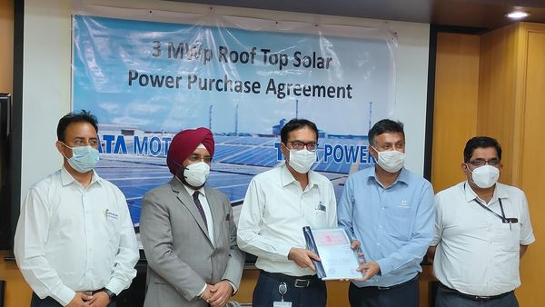 Tata Motors has signed a Solar Power Purchase Agreement with Tata Power.