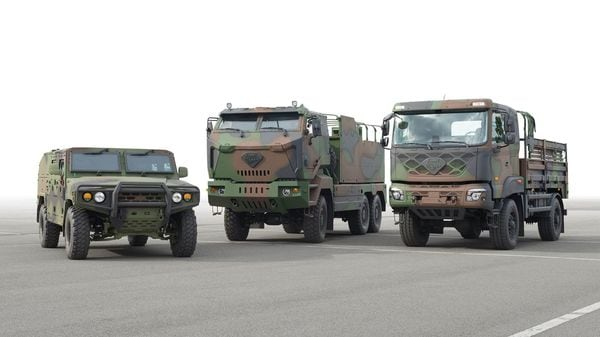 Kia supplies the South Korean army with a range of special-purpose vehicles.