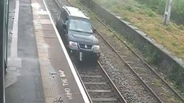 Screengrab from the video posted on Twitter by British Transport Police.
