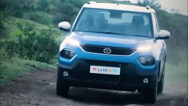 Tata Punch micro SUV is likely to be offered with multiple terrain modes to make it more capable of tackling different types of road conditions. (Photo courtesy: Twitter/@TataMotors_Cars)