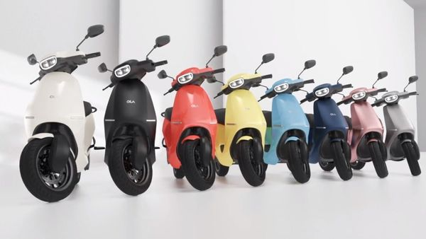 Ola Electric scooter is offered in multiple colour options.