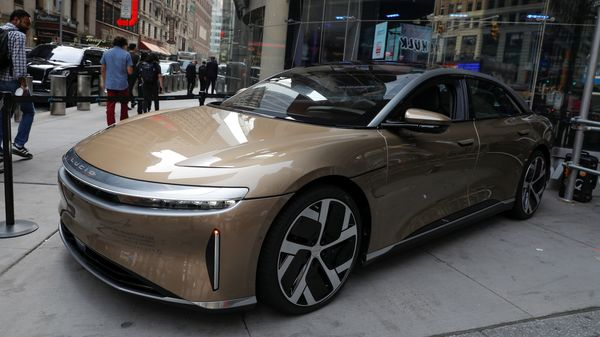 Electric vehicle maker Lucid Group says the Air Dream Edition of its debut sedan has been confirmed as the longest-range EV ever rated by the US Environmental Protection Agency. (File photo) (REUTERS)