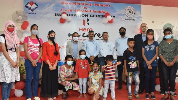 Hero has announced the launch of a new support program for 60 Covid-19 affected families in Haridwar district.