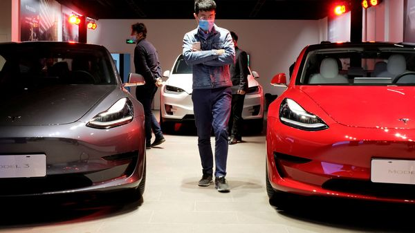 Tesla cars come with a semi-autonomous driving system that has been under the scanner for quite some time. (Representational image) (REUTERS)
