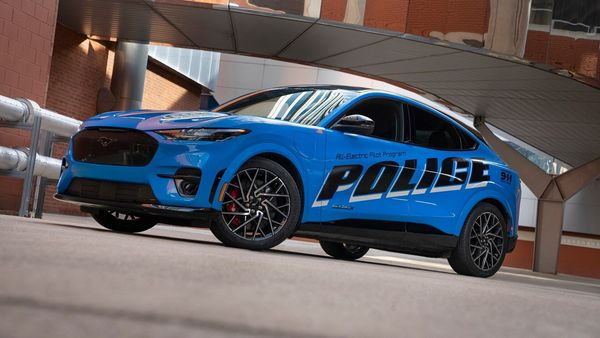 The Ford Mustang Mach-E police pilot car is being tested as part of MSP's 2022 Model Year Police Evaluation program.