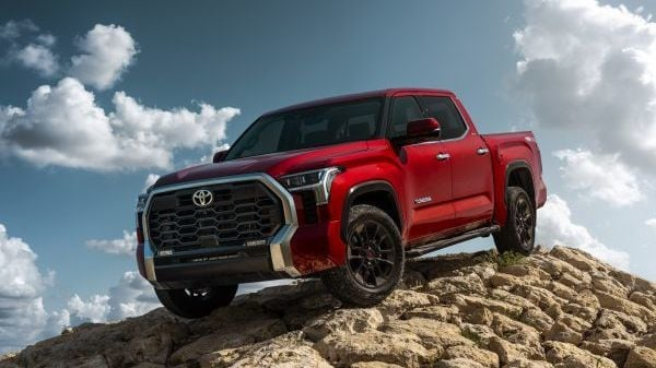 2022 Toyota Tundra pickup truck, only in its third generation since first launch 21 years ago, gets a 3.5-litre twin-turbocharged V6 engine capable of producing 389 hp and 650 Nm of peak torque.