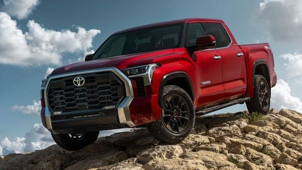 It will sport two 3.5-litre twin-turbo V6 engines, one of them being a hybrid, Tundra benefits from less weight due to the new platform. The IC V6 engine is capable of churning out 389 bhp and 650 Nm of peak torque. The hybrid powertrain is assisted by an electric motor and a 288-volt 1.5-kilowatt-hour battery. It can create 437 horsepower and 790 Nm of peak torque. The hybrid powertrain can turn Tundra into an electric-only vehicle if driven at speeds below 30 kmph. Both engines are mated to a new 10-speed transmission and have a maximum towing capacity of about nearly 5,500 kgs.