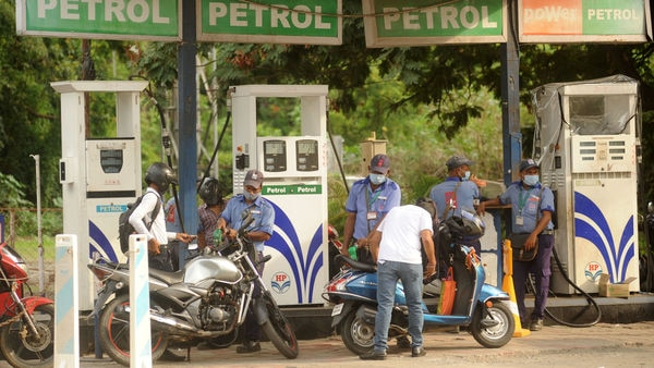 Gradual recovery in economic activities has helped in improved sales of fuels. (Photo by Vijay Bate/HT Photo)