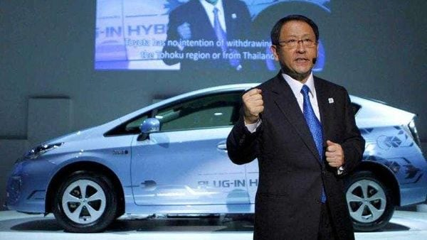Akio Toyoda is keen on using hybrid technology instead of complete electric vehicles.