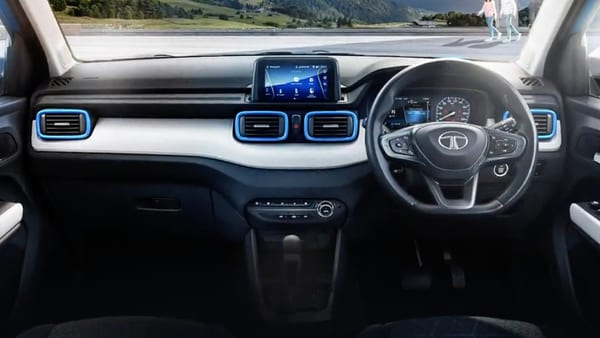 Tata Motors has revealed the interior design elements of the upcoming Punch micro SUV. (Photo courtesy: Twitter/@TataMotors_Cars)