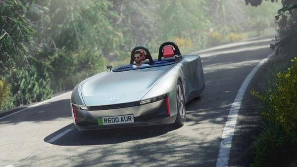 The Aura EV concept gets a very minimalist yet eye-catching design.