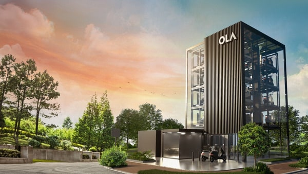 An artistic impression of a Hypercharger Network from Ola Electric. The company last month launched its first electric scooter S1.