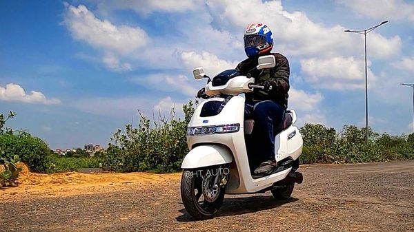 The TVS iQube handles and performs like a light weighted and easy-going traditional ICE-powered scooter. (HT Auto/Sabyasachi Dagupta)