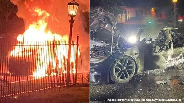 Representational Image: A Tesla Model S Plaid caught fire in a suburb of Philadelphia and several fire rescue teams were involved in bringing the blaze under control.