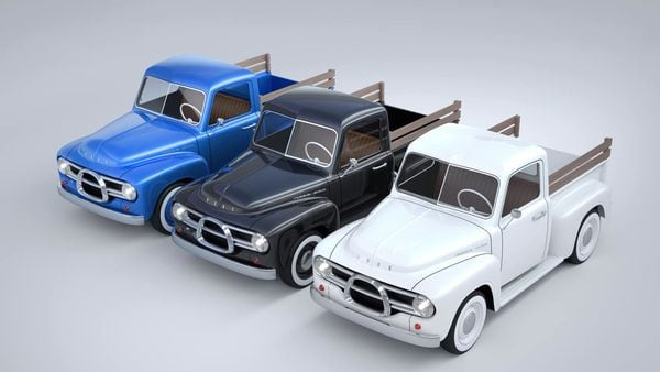 Electric pick-up trucks from Nobe. (Nobe/Facebook)