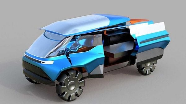 The Urban Cowboy concept imagines an electric vehicle suitable for long distance travelling.