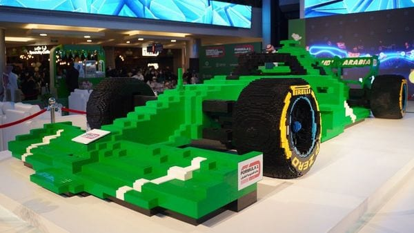Photo of F1 car made of Lego bricks. (Courtesy: F1.com)
