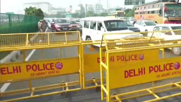 With farmers blocking national highways and major link roads in both Punjab and Haryana, police have diverted the traffic at several places. (ANI)