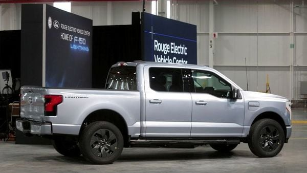 File photo: A Ford all-electric F-150 Lightning truck prototype is seen at the Rouge Electric Vehicle Center in Dearborn, Michigan. (REUTERS)