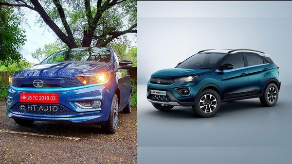 Tata Motors has seen a significant spike in the electric vehicle sales in September thanks to the Tigor EV (left) and Nexon EV.
