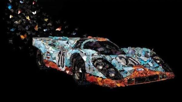 The artwork wears iconic Gulf racing car livery. (Image: Heidi Mraz)