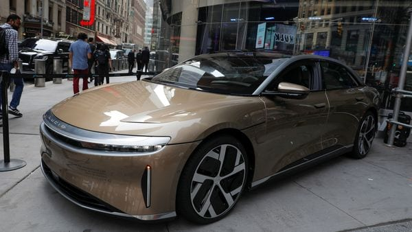 Lucid Air Dream Edition has been confirmed as the longest-range EV ever rated by the US Environmental Protection Agency. (REUTERS)