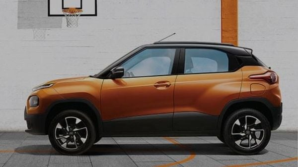 Tata Punch appears to have large wheel arches and will be offered in dual-tone colour options. Its face is styled by a 'Humanity Line' on the front grille head lights with LED DRLs. It also gets 16-inch alloy wheels.
