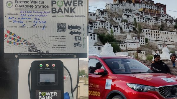 The EV charging points have been installed at key and convenient locations along the scenic route of Manali to Leh.
