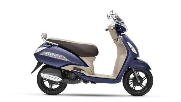 Representational image of the BS 6-compliant TVS Jupiter Classic scooter.