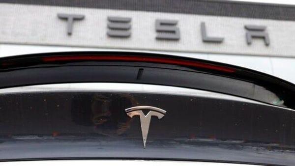 File photo of Tesla logo (AP)