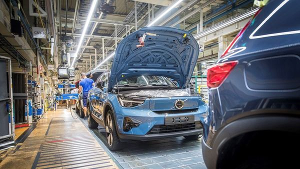 Volvo C40 Recharge at the carmaker's Belgium plant