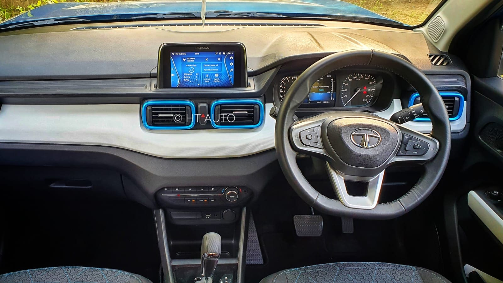 Depending on the variant, the cabin of Tata Punch offers functional features for everyday use such as cooled glovebox, infotainment screen, climate control, auto-folding ORVMs, rain-sensing wipers, automatic head lights, four speakers with two tweeters, among other additions.
